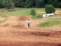 My first motocross race;  5 years old.